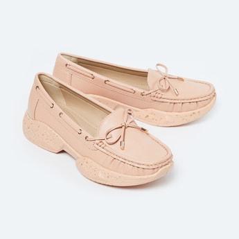 GINGER Printed Moccasin Platform Heeled Slip-On Shoes