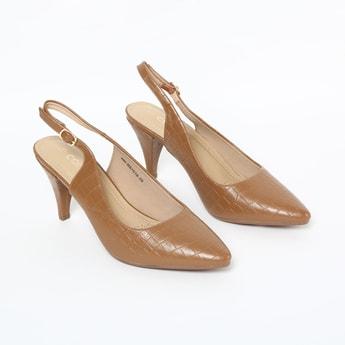 CODE Textured Pointed Toe Heels