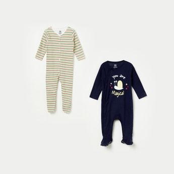 FS MINI KLUB Printed Knitted Sleepsuit - Set of 2