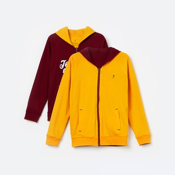 INDIAN TERRAIN Reversible Hooded Sweatshirt