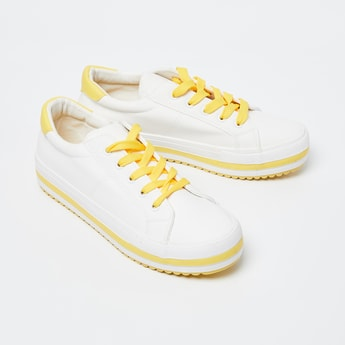 GINGER Solid Lace-Up Casual Shoes
