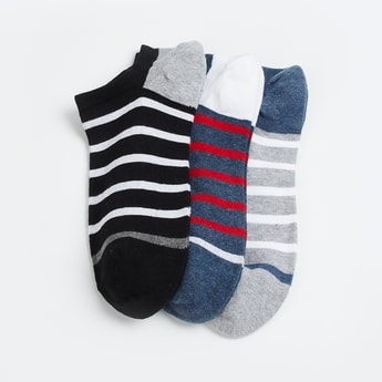 FORCA Men Striped Sports Socks - Pack of 3