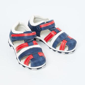 FAME FOREVER Colourblocked Velcro Strap Sandals