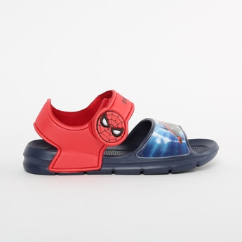 FAME FOREVER Spiderman Print Velcro Strap Sandals