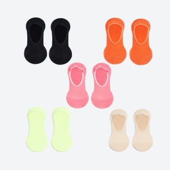 GINGER Women Solid No-Show Socks - Pack of 5