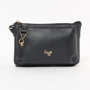 BAGGIT Solid Zip-Closure Sling Bag