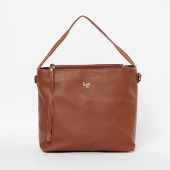 BAGGIT Solid Zip-Closure Handbag