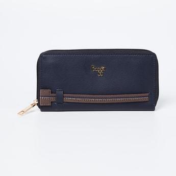BAGGIT Textured Zip-Around Wallet
