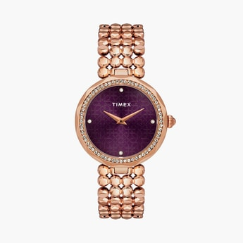 TIMEX Women Embellished Analog Watch- TWEL13903