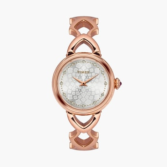 TIMEX Women Crystal-Encrusted Printed Analog Watch - TWEL14205