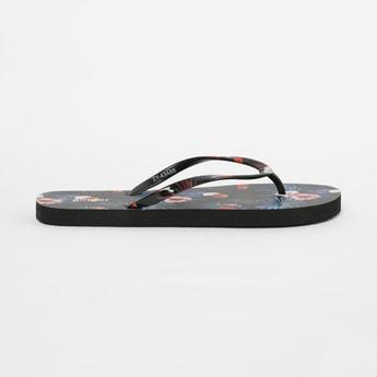 GINGER Printed V-strap Slippers
