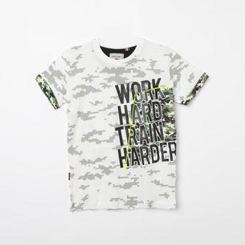 GINI & JONY Typographic Print Short Sleeves T-shirt