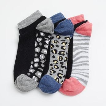 GINGER Women Animal Pattern Ankle Socks - Pack of 3