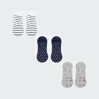 GINGER Women Patterned Knit No-Show Socks - Pack of 3