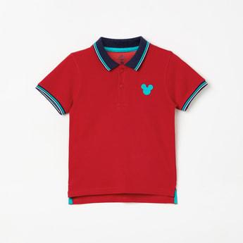 JUNIORS Boys Solid Short Sleeves Polo T-shirt