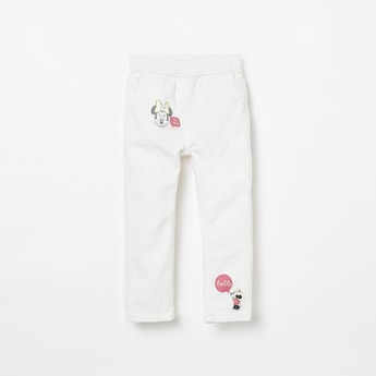 JUNIORS Minnie Mouse Print Jeggings