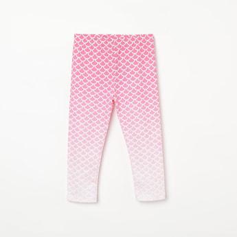 JUNIORS Ombre Print Knitted Leggings