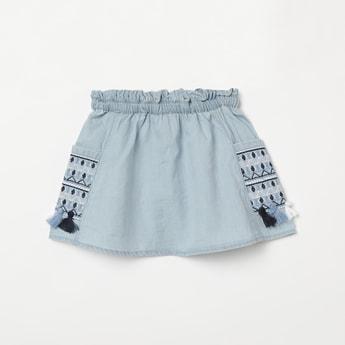 JUNIORS Embroidered Elasticated Skirt