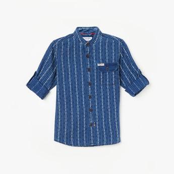 U.S. POLO ASSN. KIDS Striped Full Sleeves Shirt