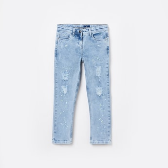 FAME FOREVER YOUNG Distressed Skinny Jeans