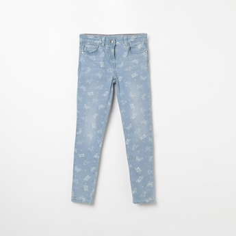 FAME FOREVER KIDS Butterfly Print Slim Fit Jeans