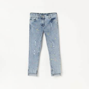 FAME FOREVER KIDS Printed Distressed Slim Fit Jeans