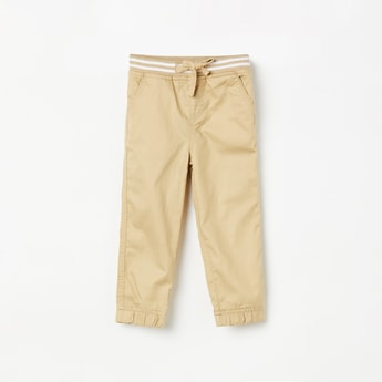 JUNIORS Boys Solid Elasticated Jogger Trousers