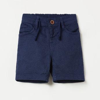 JUNIORS Solid Elasticated Denim Shorts