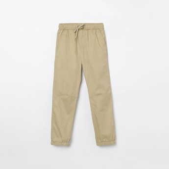 FAME FOREVER KIDS Solid Slim Joggers with Slant Pockets