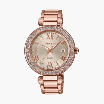 CASIO Sheen Women Swarovski-Encrusted Analog Watch - SHE-4057PG-4AUDF-SH209