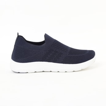 RAW HIDE Sock-Knit Slip-On Shoes