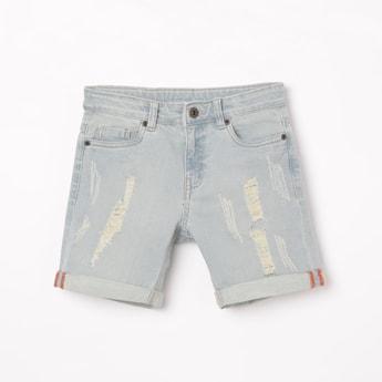 BOSSINI Distressed Denim Shorts