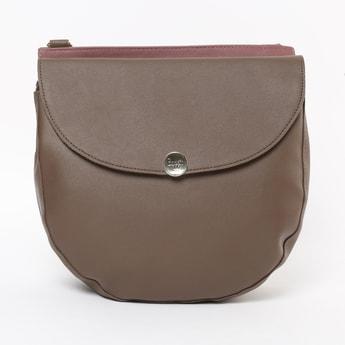 BAGGIt Solid Flap Closure Sling Bag