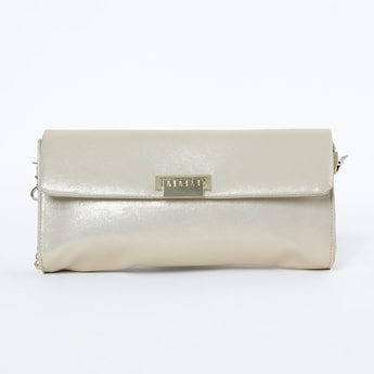 BAGGIT Shimmery Sling Bag with Detachable Strap