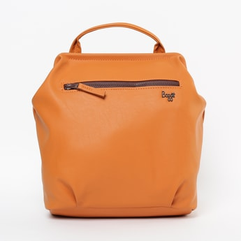 BAGGIT Solid Backpack with Zip Pocket