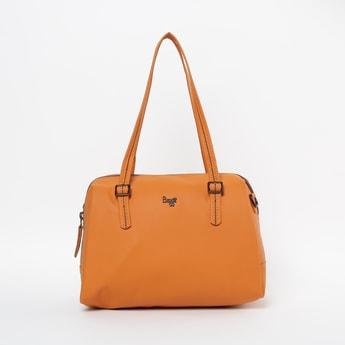 BAGGIT Solid Handbag with Falt Handles