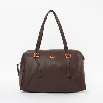 BAGGIT Solid Handbag with Flat Handles