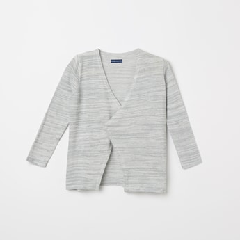 FAME FOREVER YOUNG Textured Open-Front Shrug