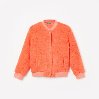 UNITED COLORS OF BENETTON Solid Full Sleeves Jacket