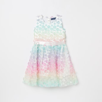 FAME FOREVER KIDS Floral Lace Sleeveless A-line Dress