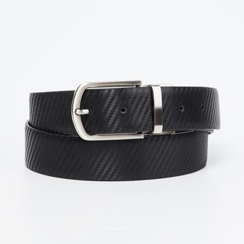 CODE Genuine Leather Reversible Textured Formal Belt