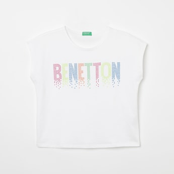 UNITED COLORS OF BENETTON Embellished Extended Sleeves T-shirt