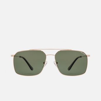 OPIUM Men Solid Polarised Square Sunglasses - OP-1838-C01