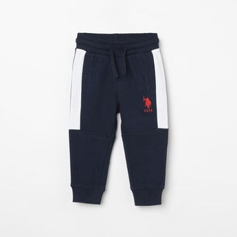 U.S. POLO ASSN. KIDS Solid Elasticated Joggers
