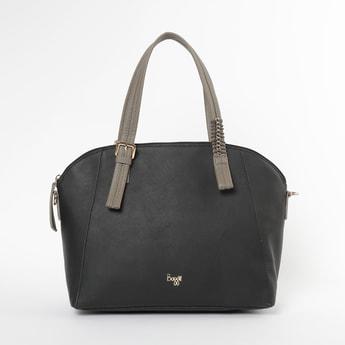 BAGGIT Textured Handbag with Flat Handles