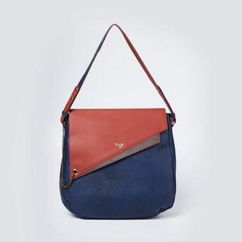 BAGGIT Colourblocked Flap-Closure Satchel Bag