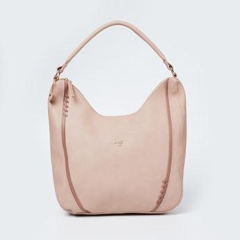 BAGGIT Solid Zip-Closure Hobo Bag