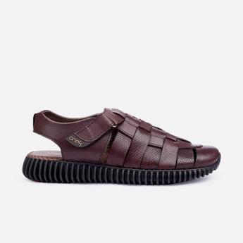 ONE8 Select Men Premium Leather Perforated Wingman Sandals