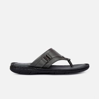 ONE8 Select Men Genuine Leather Textured Wingman Sandals