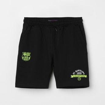 FC BARCELONA Printed Elasticated Shorts